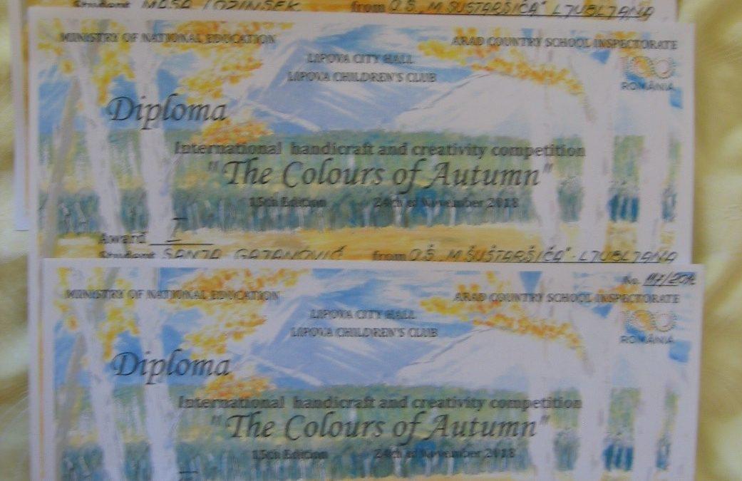 Mednarodni likovni natečaj »THE COLOURS OF AUTUMN« LIPOVA ROMUNIJA