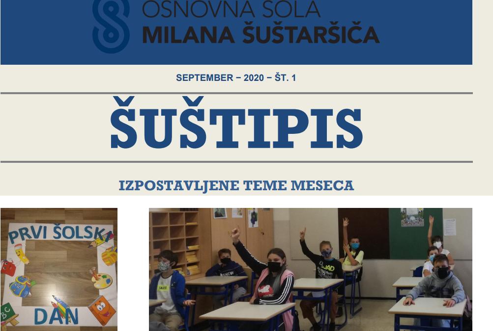Prva številka šolskega časopisa, ŠUŠTIPIS